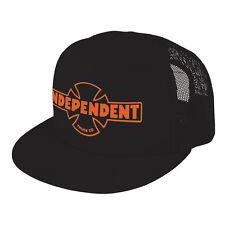 Independent Truck Co Iron Cross OG Flex Snapback Trucker Hat Cap Mens Black