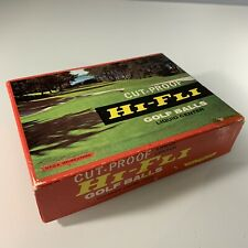 Vintage 60's-70's Golf Balls Hi-Fli Cut Proof 12 Count NEW IN BOX Titleist