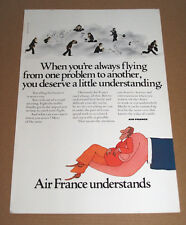 AIR FRANCE - UNDERSTANDS -  1973  VINTAGE ORIGINAL ADVERT POSTER 11 x 7 in