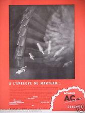 PUBLICITÉ 1949 BOUGIES AC ISOLANT INCASSABLE CORALOX - ADVERTISING
