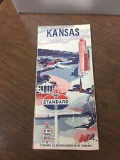 Original 1960's Standard Oil Kansas Road Map