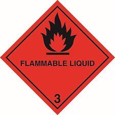 Health and Safety Hazard Sticker Flammable Liquid 3 Sticker Red