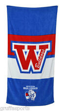 Western Bulldogs Beach Towel AFL New 152cm x 76cm Licensed New Design CA SALE