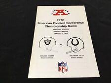 1970 AFC CHAMPIONSHIP GAME MEDIA GUIDE Program BALTIMORE COLTS OAKLAND RAIDERS