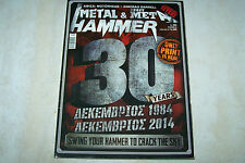 GREEK METAL HAMMER MAG 12/2014 METALLICA IRON MAIDEN