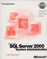 ALS Microsoft SQL Server 2000 System Administration (Pro-Academic Learning)