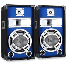 """LOT 2 ENCEINTES PA 25CM EFFET LED BLEU BASSREFLEX SONO DISCO DJ WOOFER 10"""" 800W"""