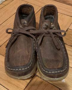 Clarks Originals Kids Wallabee Boot Nubuck Size 7.5 M/W Boys Girls Toddlers