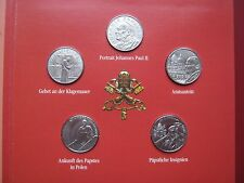 Vatican Papal City 2005 Pope John Paul II Coin Set UNC 5x 1 Lire sealed folder