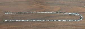"""9ct White Gold Figaro Link Chain Hallmarked 20"""" Nice"""