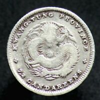 7,2 CANDAREENS 1890-1908 CHINE / CHINA KWANGTUNG Province (Argent / Silver)
