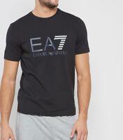 T-shirt Uomo Armani EA7 3ZPT33 PJ20Z Maglia Cotone Elastica Nera Bianca Nuova