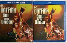 DC BATMAN SOUL OF THE DRAGON BLU RAY + SLIPCOVER SLEEVE FREE WORLD WIDE SHIPPING