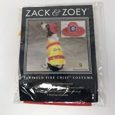 Zack & Zoey Dog Canine Halloween Costume Pawfield Fire Chief Red Yellow Size S