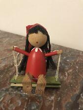 Hemslojden Boras Sweden Marked-HandmadeOrnament- Christmas-Girl Elf