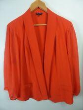 CITY CHIC orange red Mesh panel dress jacket: boho Drape cape sz L 20 22