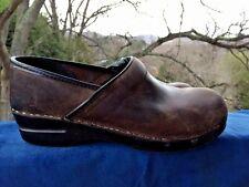 DANSKO Horse Saddle Brown LEATHER CLOGS Nurse Professional Womens Shoes Sz 10