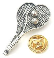 Tenis raquetas y pelotas hecho a mano DESDE Peltre Inglés en RU PIN DE SOLAPA