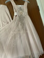 Bridesmaid Dress Next Signature Tulle & Sequins Age 7 with Matching Cardigan
