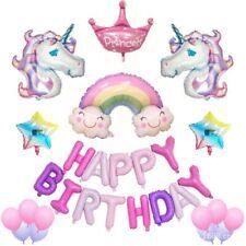32pc Unicorn Happy Birthday Balloons Supplies-Unicorn Theme Party Decoration set