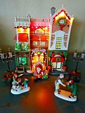 Dept 56 Visiting Santa At Finestrom's ~ Building Streetlights & Our Best Vintage