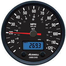 Acewell CA85 CA085-124GS Classic 120 mph speedometer with RPM and warning lamps