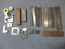 Konvolut - Juwelier / Goldschmied -  Zieheisen, Stahlwinkel, Lupe, usw.