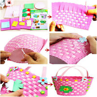 Handmade 3D EVA Foam Basket Children Educational Toy Kids DIY Craft Kits Pip TOU