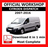 >> OFFICIAL WORKSHOP Manual Service Repair Citroen Dispatch 2007 - 2016