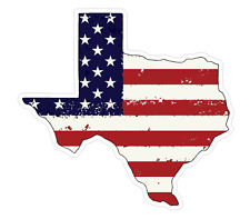 Texas State (J2) USA Flag Distressed Vinyl Decal Sticker Car/Truck Laptop