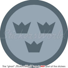 """SWEDEN Swedish AirForce LowVis Aircraft Roundel 4"""" Sticker-Decal"""