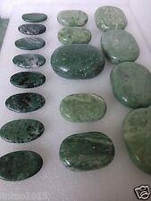 17 pcs SPA Natural Jade Hot Massage Stone set Jade Massage Therapy Energy relaxa