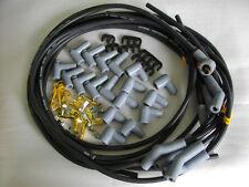 SPARK PLUG LEADS 9 MM BLACK 45 DEGREE UNIVERSAL HOLDEN CHEV FORD CHRYSLER ETC