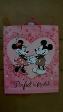 Hallmark Disney Minnie & Mickey Mouse Glitter Gift Bag NEW Tote Handles Large