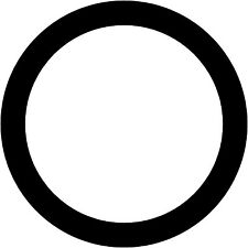 "PAIR of 1"" Hole Border Decals Bean Bag Cornhole Ring Circle Stickers"