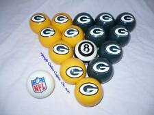 NEW Licensed NFL Green Bay Packers Football Billiard Pool Cue Ball Set FREE SHIP