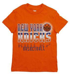 NBA Basketball Kids / Youth New York Knicks Extreme Logo T-Shirt - Orange