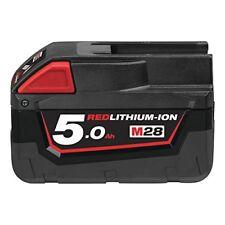 Milwaukee M28b5 litio-ion slide Batería paquete 28v 5.0ah Ión-litio