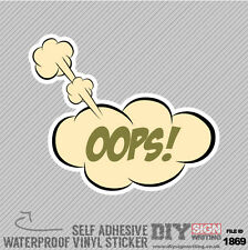 Oops Jdm Cloud Bubble Self Adhesive Vinyl Sticker Decal Window Car Van Bike
