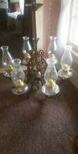 kerosene Chandelier 6 arm all original