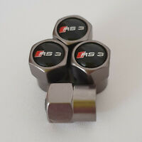 AUDI RS3 Gun Metal Grey Wheel Valve Dust caps all models S LINE S-line RS 3 TT