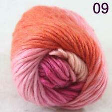 SALE NEW Chunky Colorful Hand Knitting Scores Wool Yarn Pink Orange Hot Pink