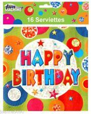 Decoración y menaje servilletas color principal multicolor de papel para mesas de fiesta
