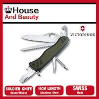 NEW Victorinox Swiss Soldier's Knife 08 Green/Black One Hand 0.8461.MWCH 35450