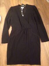 HOSS INTROPIA Black VES 9642690 Body Con Long Sleeve DRESS Sz 14 NEW