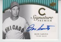 2008 Upper Deck Premier Autograph Gold Ron Santo 4/5 Chicago Cubs HOF RARE SP