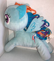 "Hasbro My Little Pony Rainbow Dash Plush 12"" Stuffed Toy Doll Ribbon Hair"