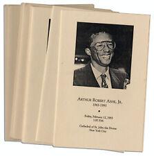 Lot of Programs From Arthur Ashe's Funeral