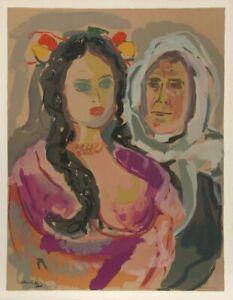 Emmanuel Mane-Katz, Mother and Daughter from Pou Stempheniou de Cholen Aleikhem,