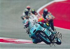 Raúl Vázquez mano firmado Leopardo Racing 12X8 Foto MotoGP, BSB, WSBK.